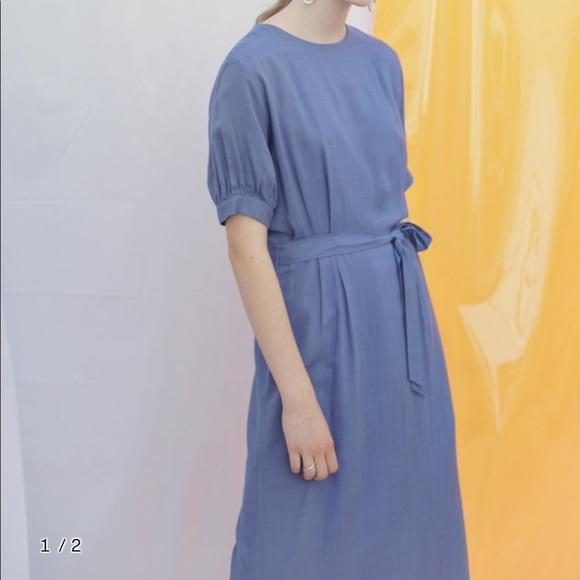 5aaf61779a Bibyseob blue linen midi dress M